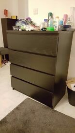 Chest of 4 drawers Black-Brown. 3 months old