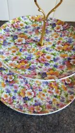 China Tiered Vintage Floral Cake Stands 2 available