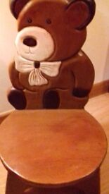Child's solid wooden chair