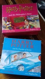 18 CD AUDIO BOOK HARRY POTTER BOOK 1 + 2