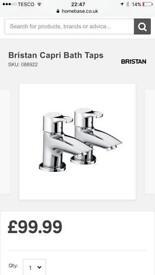 BRISTAN BATH AND BASIN TAPS R.R.P £174.00