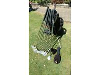 Maxfli VHL golf clubs 9 Irons 3-SW Wilson Putter Howson 5 wood in Hippo carry stand bag