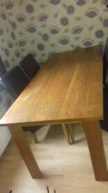 Huge solid oak dining table
