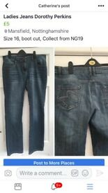 Dorothy Perkins Ladies Jeans size 16