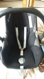 Baby car seat and base