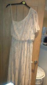 Evening Dress 14 Cream/Champagne
