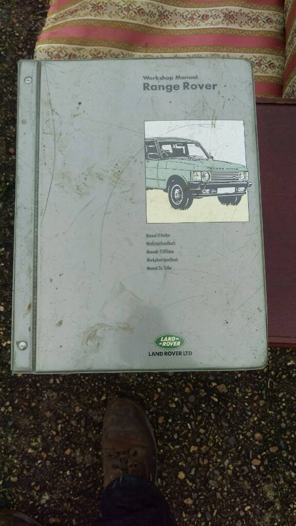 Range Rover car manual
