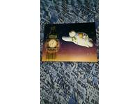 Snowman and the Snowdog Big Ben Light Up Canvas Picture