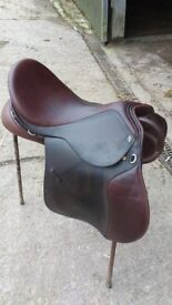GFS Brown Leather General use/ GP Saddle 17.5