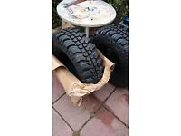 100 ono brand new 4x4 tyres x2