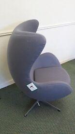 Superb Designer Egg Chair Inspired by Arne Jacobser.
