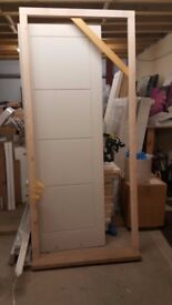 Brand New: Softwood Stormsure Door Frame with Hardwood Cill