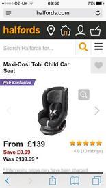 Maxi Cosi Tobi black car seat