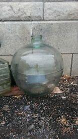 large glass garden vase 50 cm tall diameter 50 cm