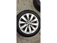 """GENUINE BMW ALLOYS X4 WITH TYRES FITS 3 SERIES BMW 5X120 BMW ALLOY WHEELS 17"""""""