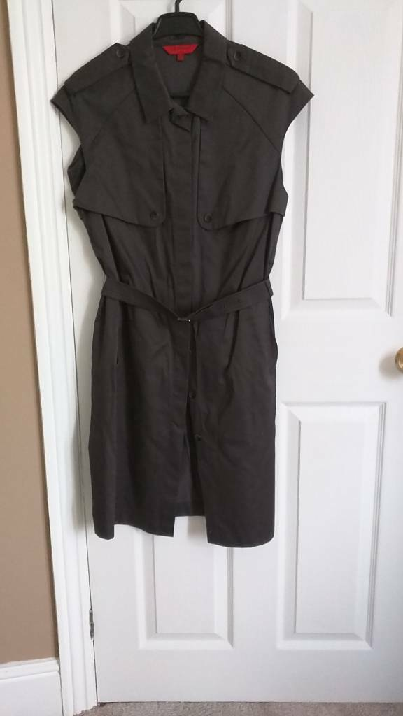 Military style, sleeveless shirtdress. LK Bennett, size 14