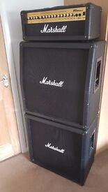Marshall Full Stack Guitar Amp , MG100HDFX - Head, MG412B & MG412A Speaker cabinets. amplifier