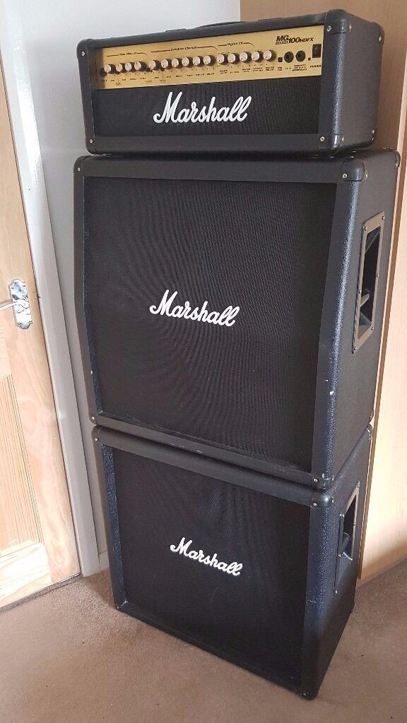 Full Stack Amp : marshall full stack guitar amp mg100hdfx head mg412b mg412a speaker cabinets amplifier ~ Hamham.info Haus und Dekorationen