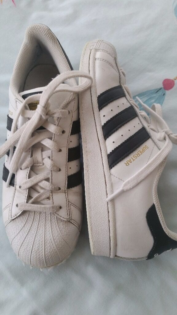 Adidas Superstar trainersin Romford, LondonGumtree - Adidas Superstar trainers, Size 6 adult white with black Adidas stripe 6 months old