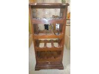Solid carved wood wine rack