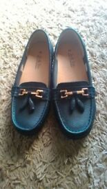 New navy shoes
