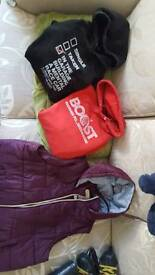 2 mens medium hoodies and large new look gillet