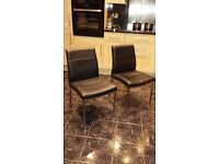 4 comfortable faux leather chairs - suitable for kitchen dining area