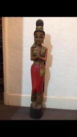 "Beautiful 40"" wooden Thai sculpture"