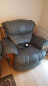 Green Cushioned Electric Armchair
