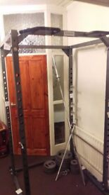 Olympic weights 145kg with power cage and bar
