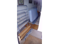Metal silver grey finished single bed and mattress - ideal for visitors or spare room