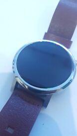 Moto 360 Smart watch genuine leather! Like new!