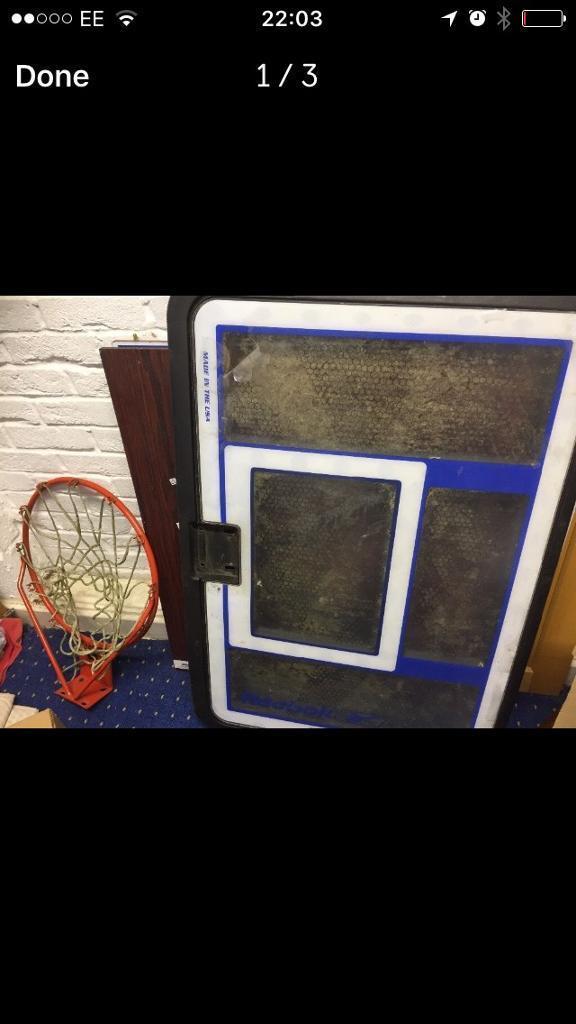 Reebok basketball hoop and stand