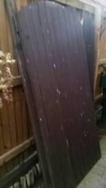 Two wood gates