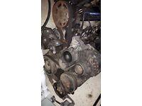 VW Golf mk 4 GTI engine 2L alternator auxilary belt and cam belt still on.