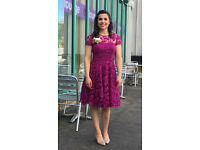 Beautiful Fuchsia Ted Baker Dress - 10