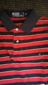 Navy red and yellow Ralph Lauren polo. M.
