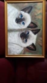 Four blue eyes