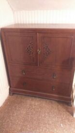 Cupboard Chest of Drawers - 50s Wooden Design