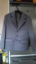 Boys grey jacket and waistcoat 8 yrs