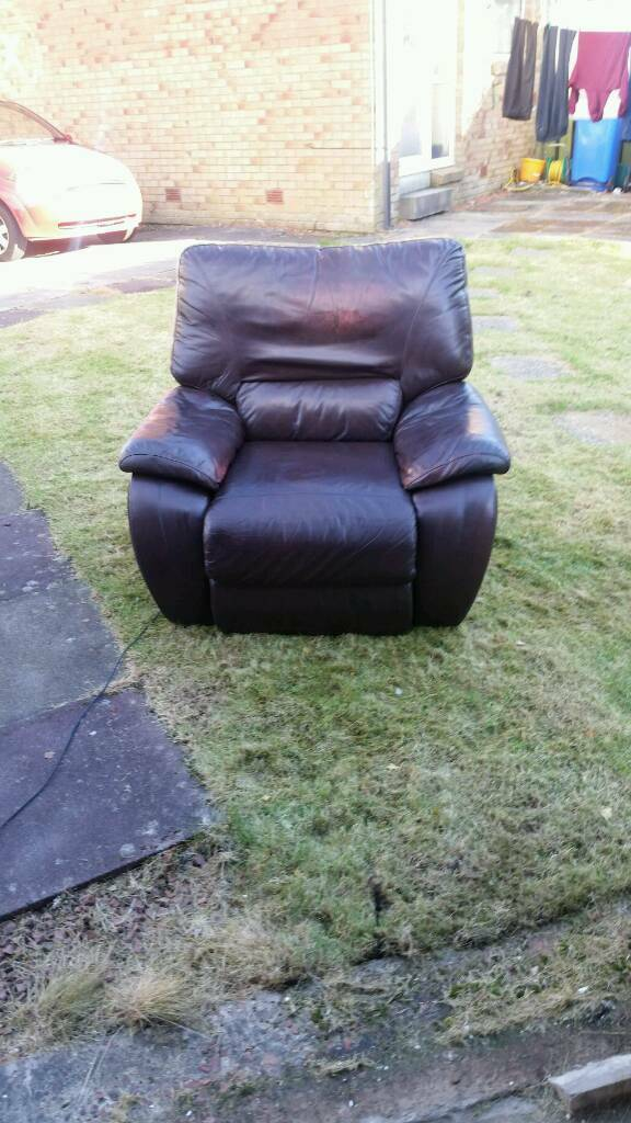 La-z-boy brown leather recliner