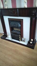 Lovely Dark Wood Fireplace