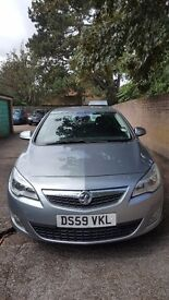 Silver Vauxhall Astra 2010 - just passed MOT!