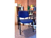 4 Blue office chairs