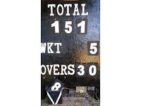 Wooden cricket scoreboard (mobile)