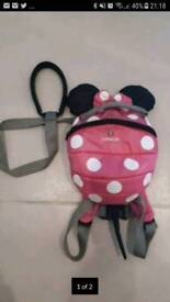 Minnie mouse little life bag and reigns