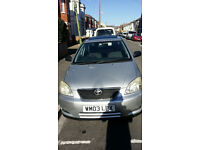 Toyota corolla 2003. Long mot. Very good mechenically condition.
