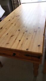REDUCED!!! Fantastic 7ft x 3ft pine dining table
