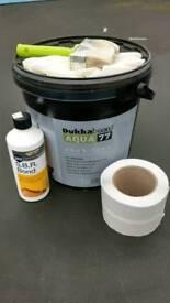 Wet room shower tanking sealing kit