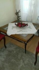 Real wooden table set